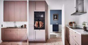 30 ایده طراحی آشپزخانه صورتی برای کمک به طراحی های شما - Dusky pink kithcen units 300x152
