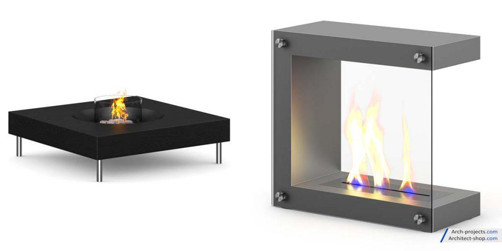 مدل سه بعدی شومینه از CGAxis - Fireplaces 1024x512