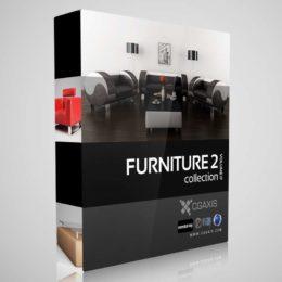 مدل سه بعدی مبلمان و میز از CGAxis