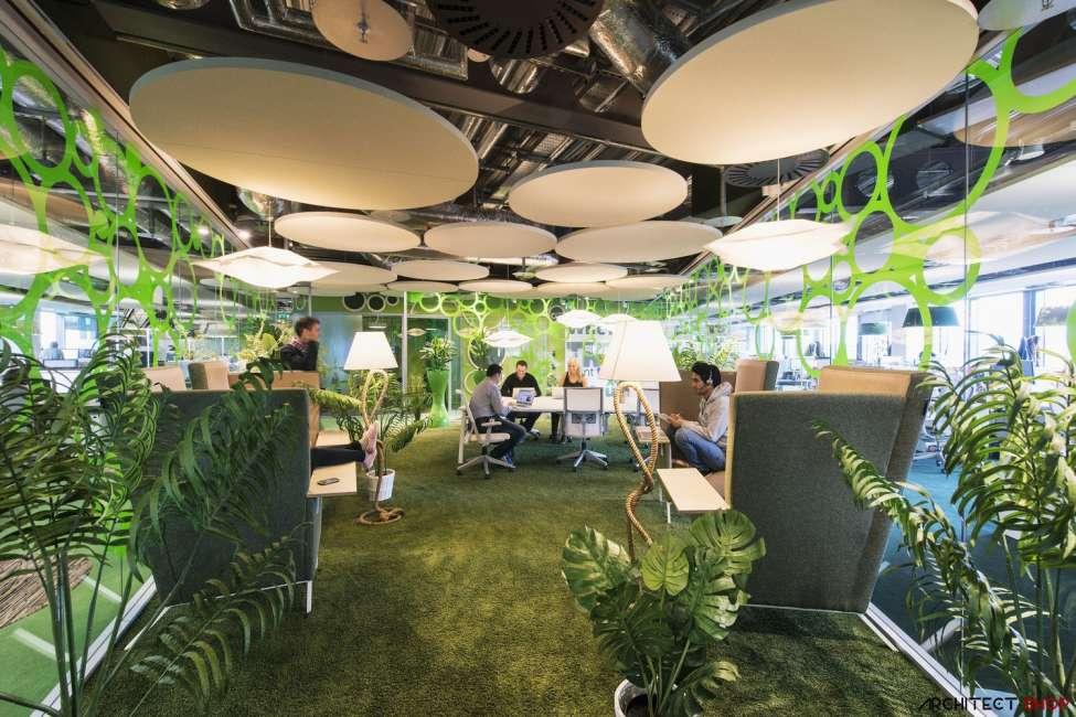 طراحی دفتر کار گوگل - Google Campus Dublin 1