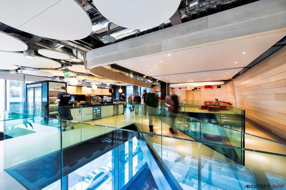 طراحی دفتر کار گوگل - Google Campus Dublin 10