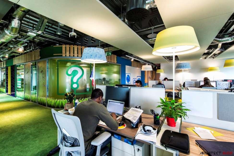 طراحی دفتر کار گوگل - Google Campus Dublin 15