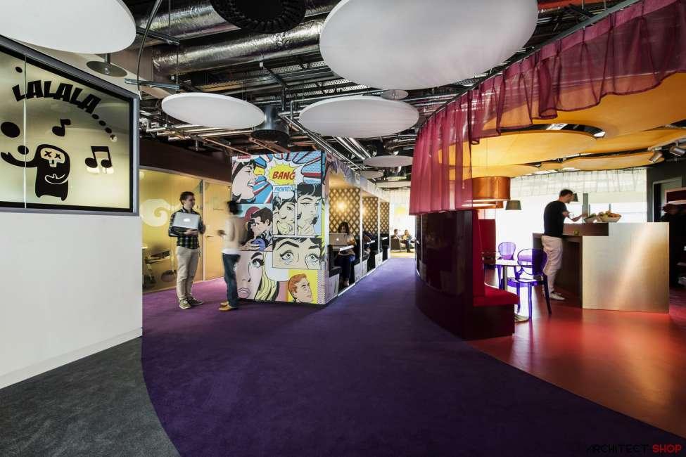 طراحی دفتر کار گوگل - Google Campus Dublin 17