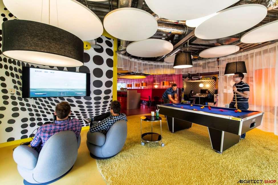 طراحی دفتر کار گوگل - Google Campus Dublin 18