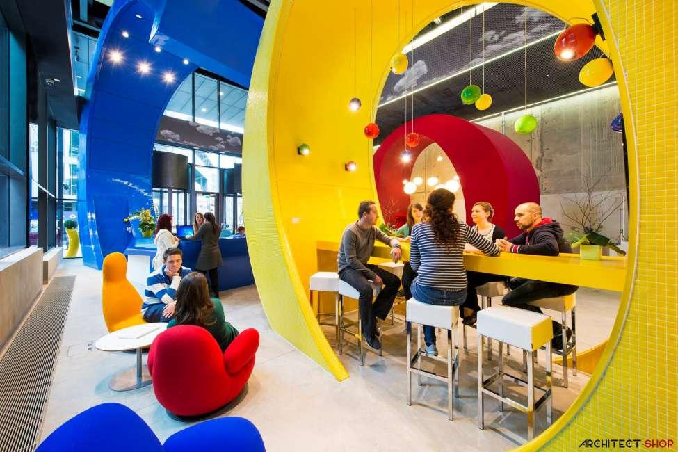 طراحی دفتر کار گوگل - Google Campus Dublin 25