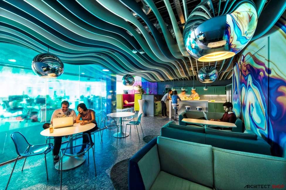 طراحی دفتر کار گوگل - Google Campus Dublin 27