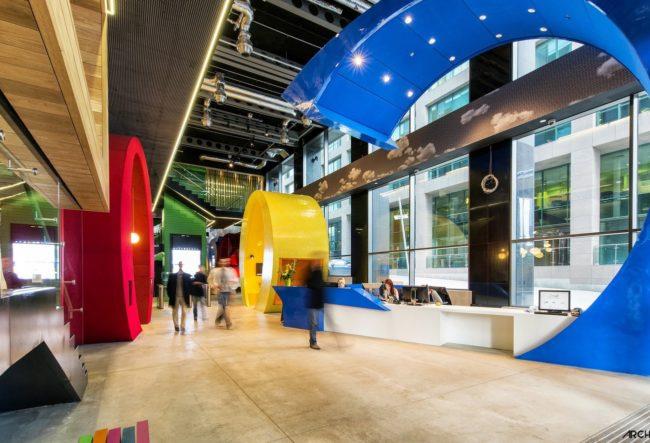 طراحی دفتر کار گوگل