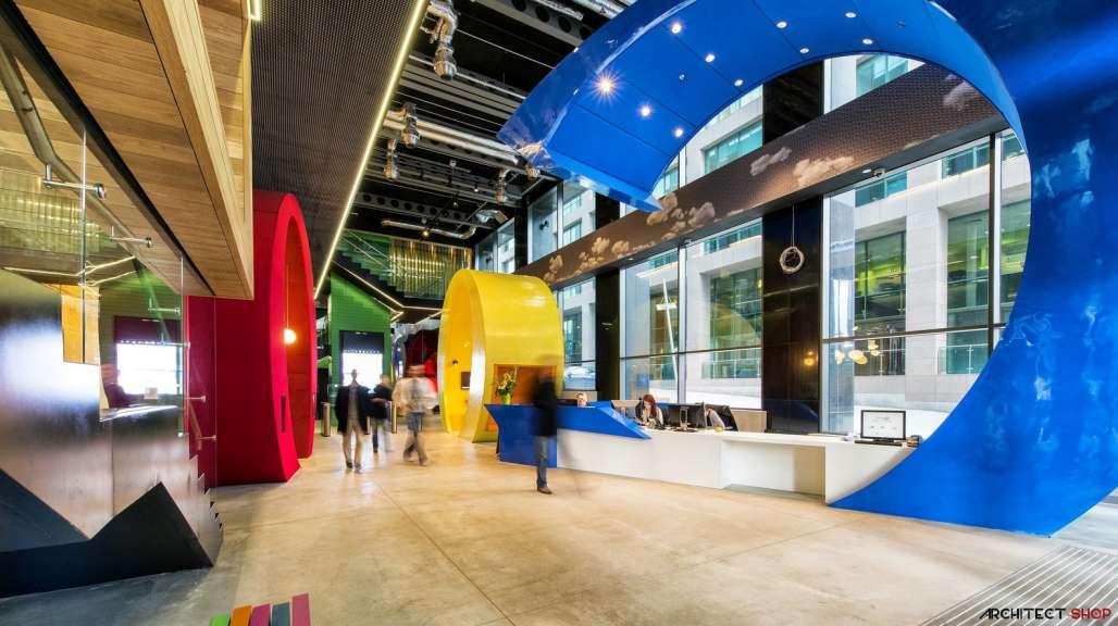 طراحی دفتر کار گوگل - Google Campus Dublin 5