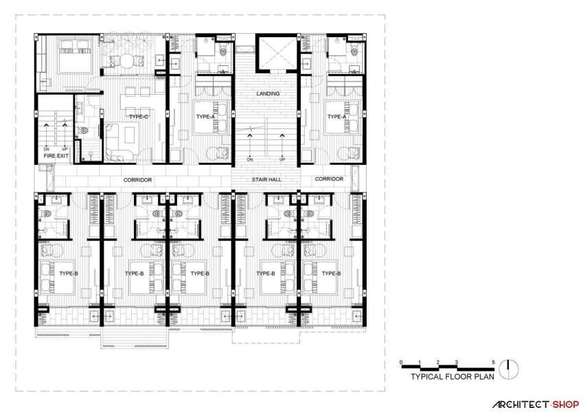 طراحی آپارتمان اجاره ایی در تایلند - HACHI Apartment 23