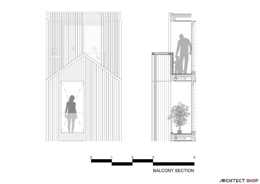 طراحی آپارتمان اجاره ایی در تایلند - HACHI Apartment 25