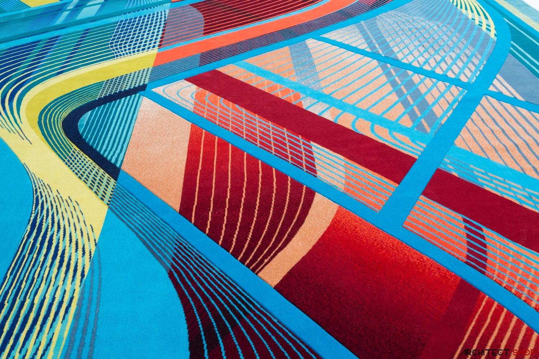 طراحی فرش توسط شرکت معماری زاها حدید - Hadid Carpet 10 1