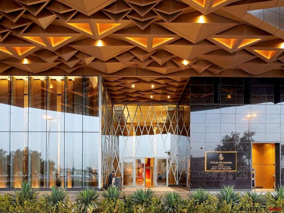 طراحی هتل با نمای پارامتریک - Hotel Kuwait 12