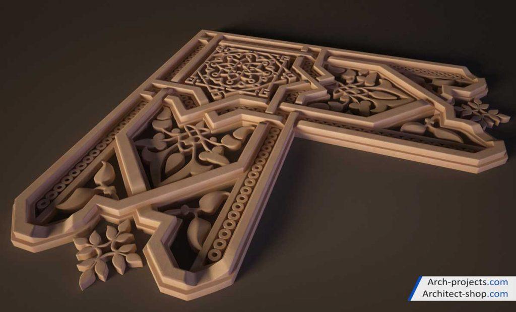مدل سه بعدی طرح های اسلامی