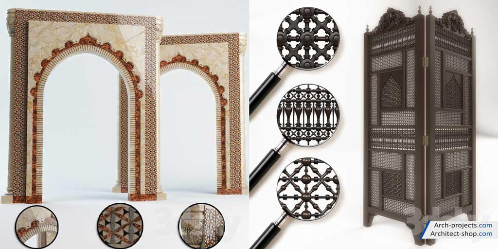 آبجکت طرح های اسلامی