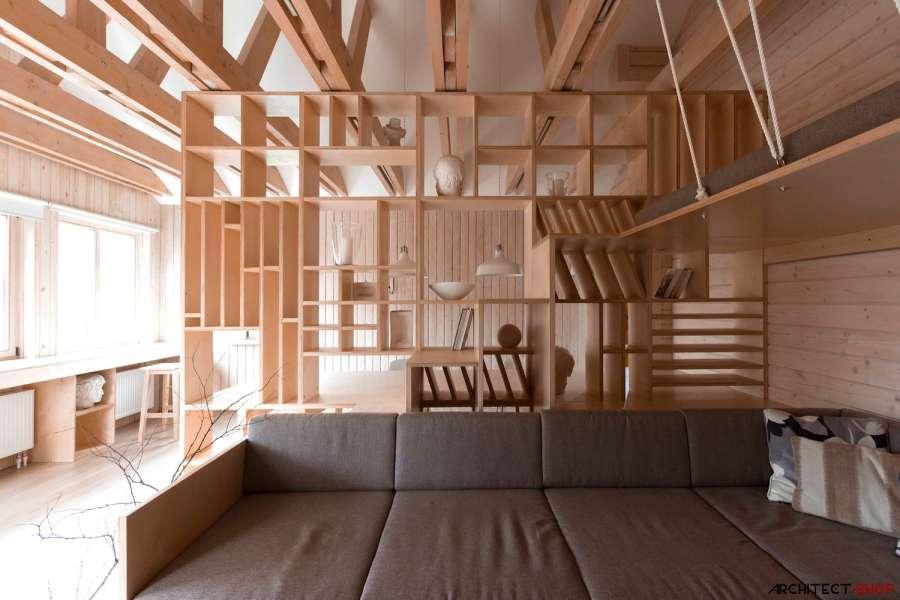30 ایده خلاقانه طراحی کتابخانه - Library Architecture 10