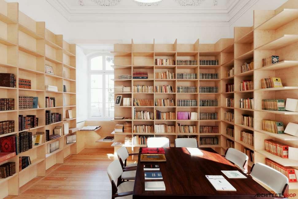 30 ایده خلاقانه طراحی کتابخانه - Library Architecture 13