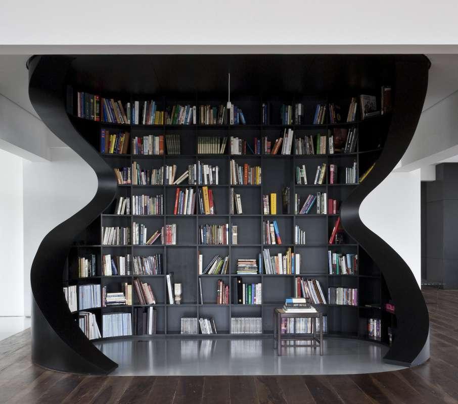 30 ایده خلاقانه طراحی کتابخانه - Library Architecture 27
