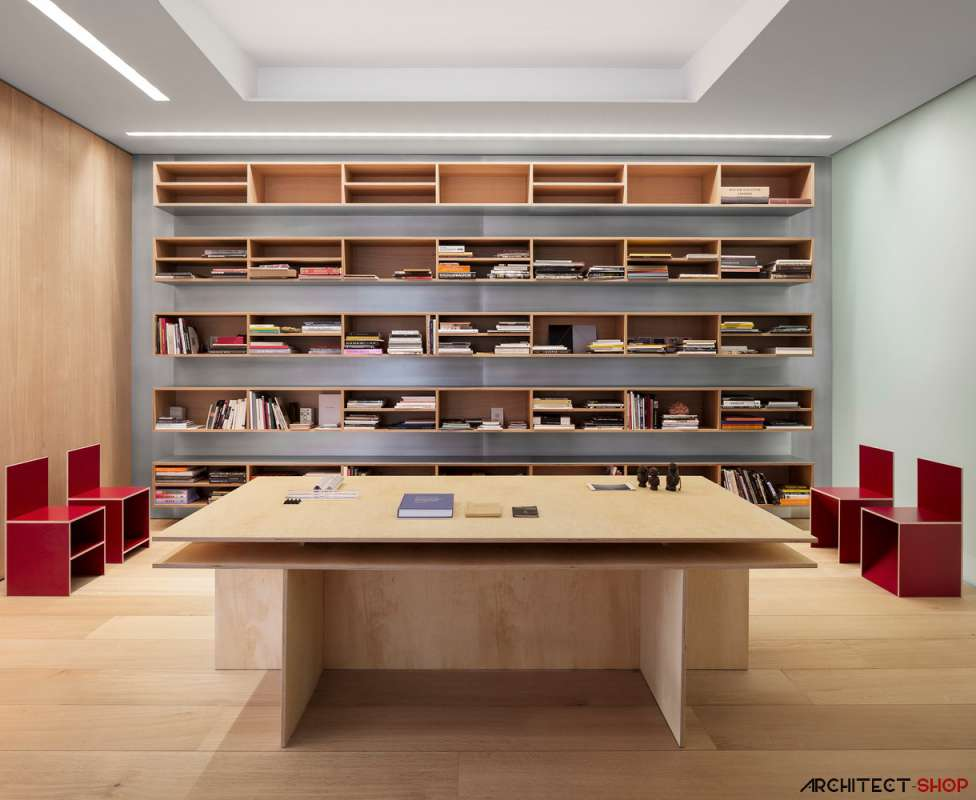 30 ایده خلاقانه طراحی کتابخانه - Library Architecture 9