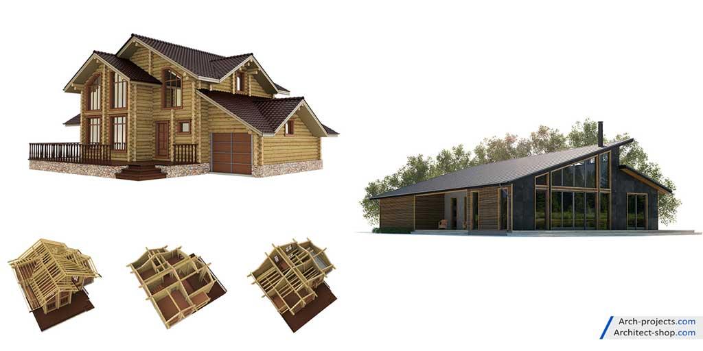 مدل سه بعدی نمای مدرن ساختمان
