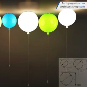 مدل سه بعدی لامپ سقفی مدرن