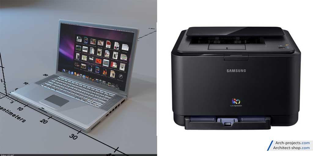 دانلود رایگان مدل سه بعدی کامپیوتر و لوازم الکتریکی - Modern PC Other Electrics 3