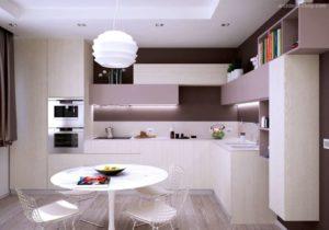 30 ایده طراحی آشپزخانه صورتی برای کمک به طراحی های شما - Muted pink kitchen cabinets 300x210