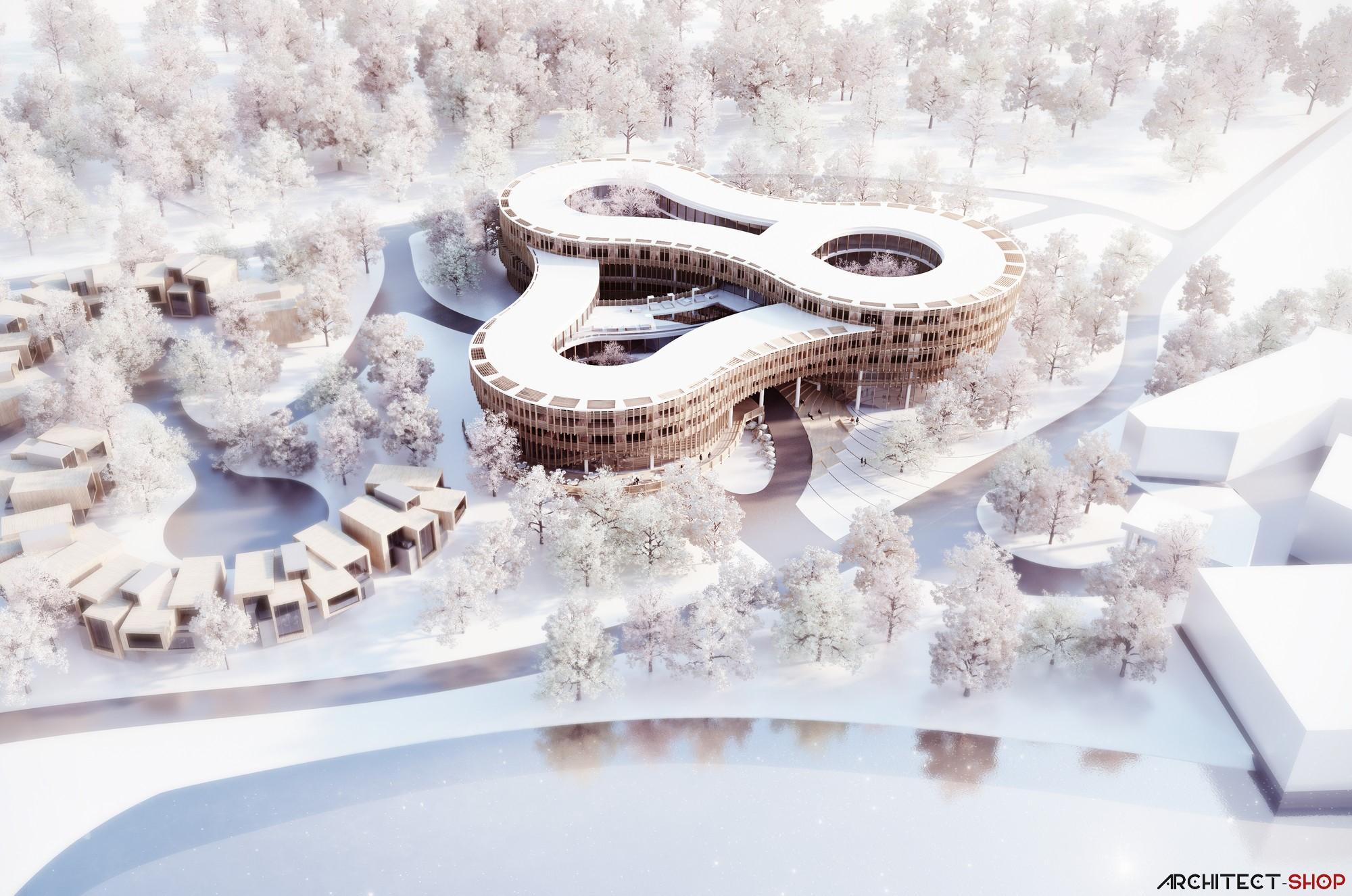 طراحی هتل باغ در چین - Myrtle Garden Hotel 1 1