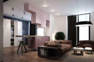 30 ایده طراحی آشپزخانه صورتی برای کمک به طراحی های شما - Pink gloss cabinets 300x200