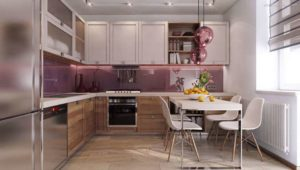 30 ایده طراحی آشپزخانه صورتی برای کمک به طراحی های شما - Pink kitchen pendant lights 300x170