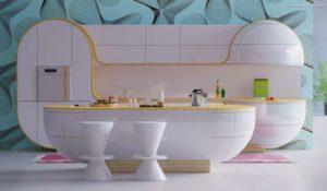 30 ایده طراحی آشپزخانه صورتی برای کمک به طراحی های شما - Pink kitchen rug 300x175