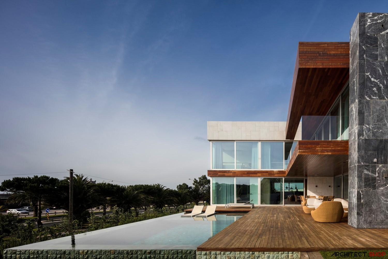 طراحی ویلا با سبک معماری معاصر - Praia da Torre 8 1