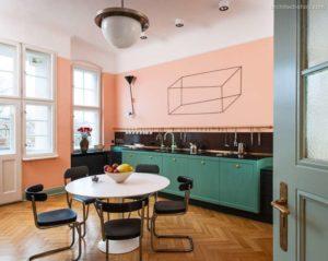 30 ایده طراحی آشپزخانه صورتی برای کمک به طراحی های شما - Salmon pink kitchen decor 300x239