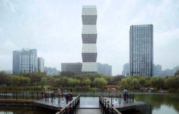 طراحی برج اداری تجاری در چین