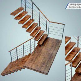 دانلود مدل سه بعدی پله