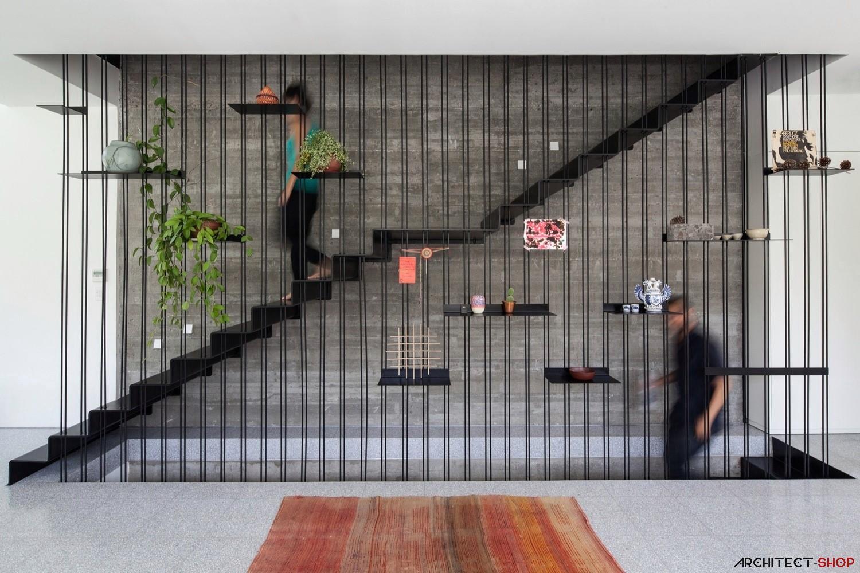 17 ایده طراحی نرده راه پله نامتعارف - Stair Railings 5 1