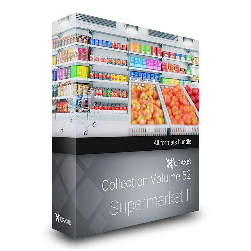 آبجکت سوپرمارکت از CGAxis (مجموعه دوم)
