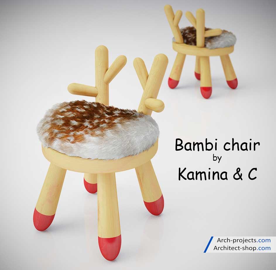 دانلود مدل سه بعدی میز و صندلی اتاق کودک