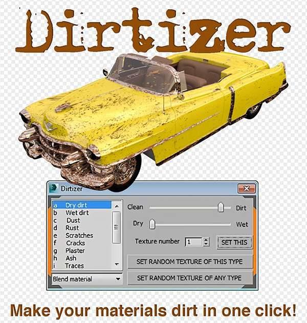 دانلود پلاگین Dirtizer 1.3 برای 3ds Max - dirtizer plugin 3 600x631