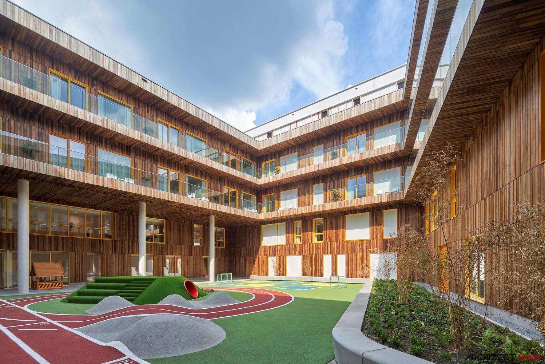 طراحی بیمارستان تخصصی آنکولوژی کودکان - princess maxima hospital 1 1
