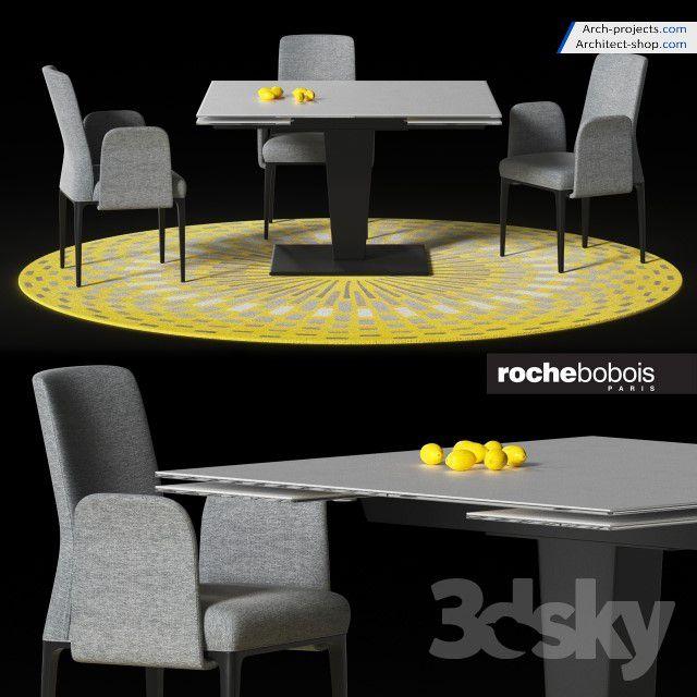 دانلود آبجکت میز و صندلی