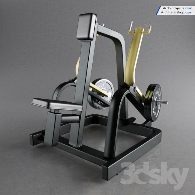 مدل سه بعدی لوازم بدنسازی