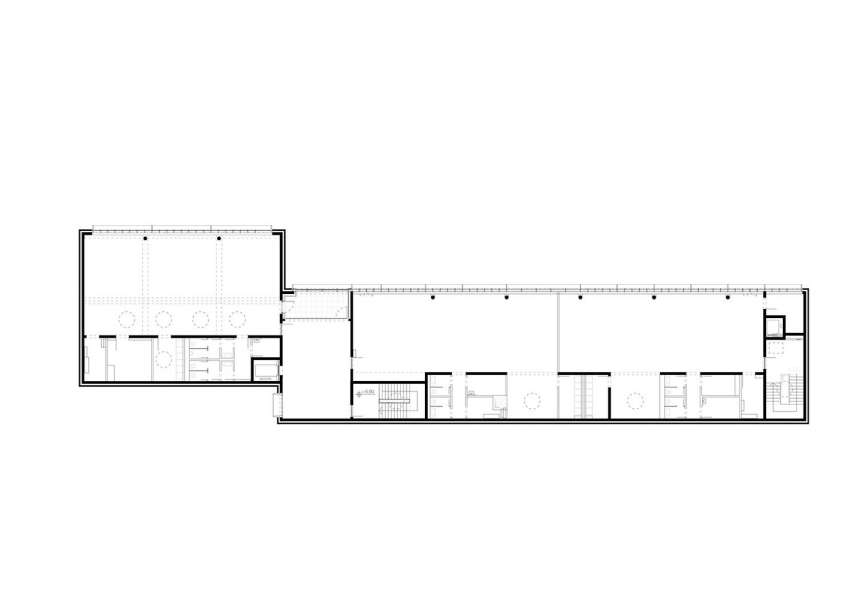 طراحی نمای آجری ساختمان صنایع نساجی آلمان - Administrative Building Textilverband 11