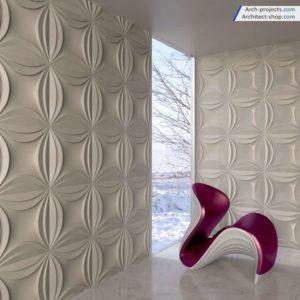 آبجکت دیوار پوش سه بعدی