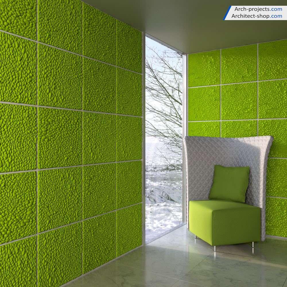 مدل سه بعدی دیوار پوش سه بعدی