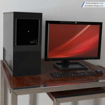 مدل سه بعدی کامپیوتر