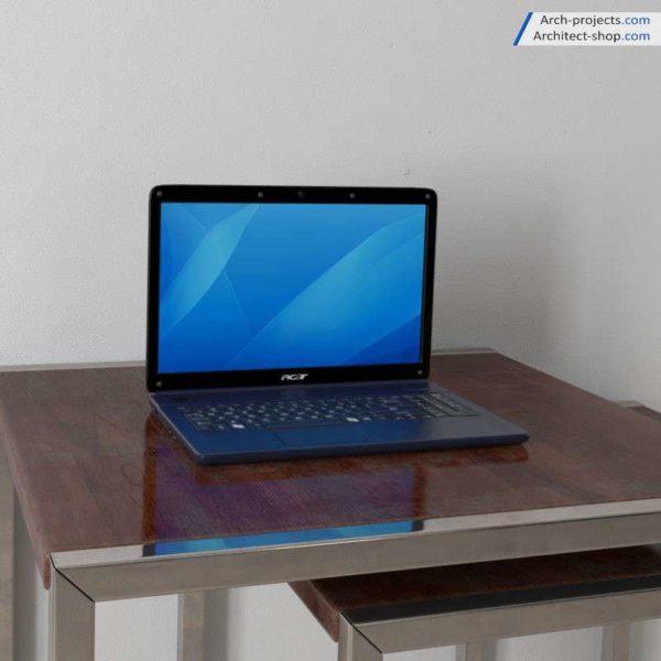 مدل سه بعدی لپ تاپ