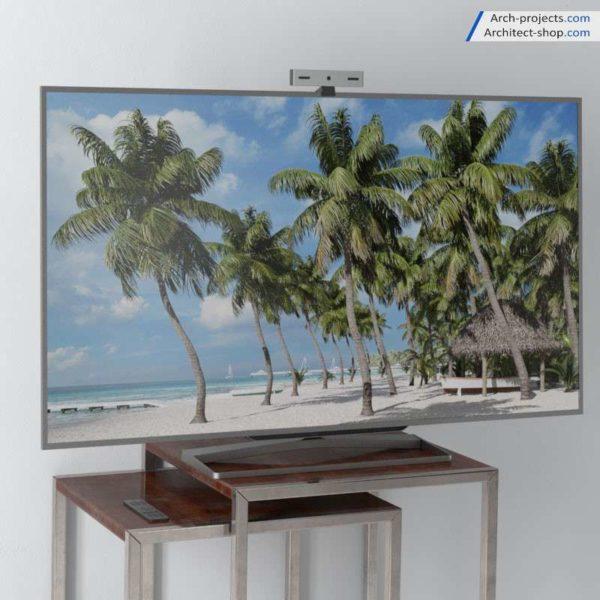 مدل سه بعدی گوشی تلویزیون