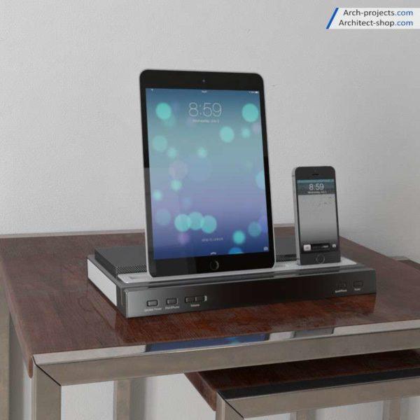 مدل سه بعدی گوشی و تپلت
