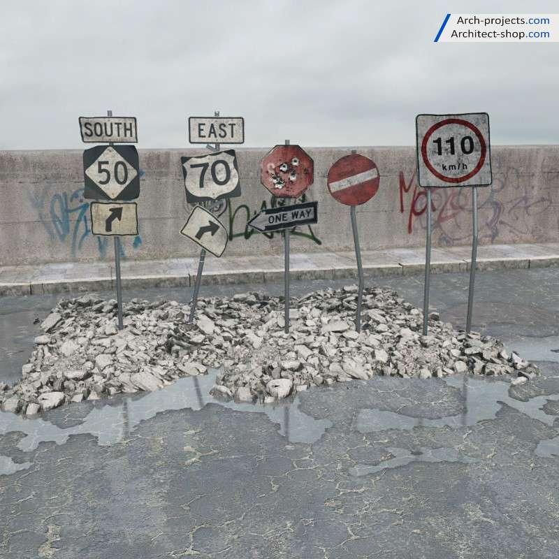 آبجکت اجسام تخریب شده – Archmodel 165
