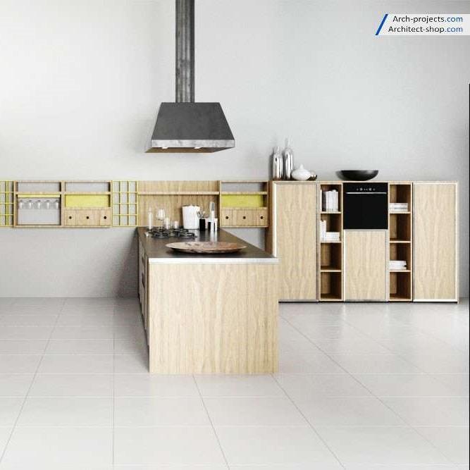 دانلود رایگان آبجکت آشپزخانه و کابینت – آرچ مدل 166